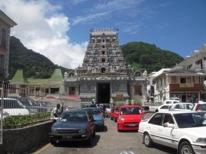 Victoria's hindu temple (and a car park)